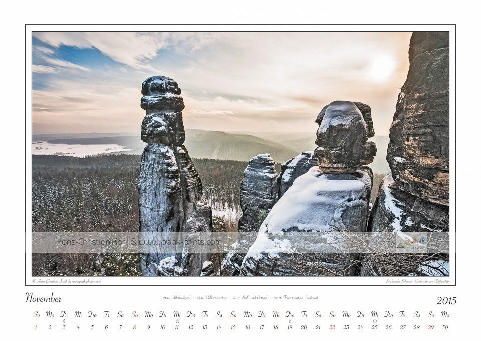 Kalender 2015, November, Barbarine am Pfaffenstein