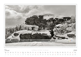 Kalender Traumlandschaft Elbsandstein Boehmische Schweiz 2016 Tyssaer Waende Steinpilz, Februar