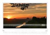 Kalender Traumlandschaft-Elbsandstein 2016 Saechsische Schweiz Abendstimmung im Elbtal, Maerz