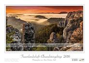 Traumlandschaft Elbsandstein 2016 Saechsische-Schweiz Rathen Morgenstimmung über dem Raaber Kessel