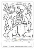 Die Postkarte zum Ausmalen; Postkarte Dresden Hofnarr Joseph Fröhlich. Der Hofnarr und Spaßmacher ist in seiner steirischen Tracht abgebildet. Ihm zur Seite stehen das Äffchen, die Eule und das Wildschwein. Dieses Motiv lädt zu kraftvoller, bunter Füllung ein oder zur Ton-in-Ton Gestaltung in Anlehnung an historische Bildwerke.