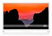 Traumlandschaft Elbsandstein 2017 Saechsische Schweiz, Sonnenuntergang am Rauschentor · Schmilkaer Gebiet; Mai