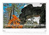 Traumlandschaft Elbsandstein 2017 Saechsische Schweiz, Malá Pravčická Brána · Kleines Prebischtor, Oktober