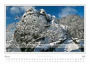 Traumlandschaft Elbsandstein 2017 Saechsische-Schweiz Basteibruecke Rathen, Januar